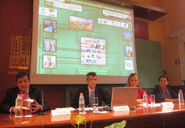 Fernando Tejada, Banco de España; Domínguez, Unicaja Banco; Alba, y CNMV