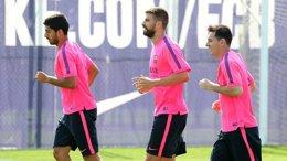 """Foto: Madrid-Barça: Luis Suárez está """"preparado"""" para el debut (MIGUEL RUIZ - FCB)"""