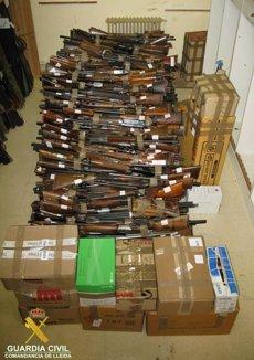 Foto: La Guàrdia Civil de Lleida destrueix 890 armes (GUARDIA CIVIL)