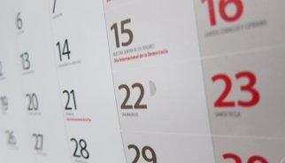El calendari laboral per al 2015 té vuit festes nacionals, una menys que aquest any