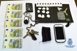 Foto: Detenido cuando circulaba con nueve bolsitas de cocaína (POLICÍA)