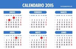 Foto: Calendario laboral 2015: ocho fiestas nacionales y no hay puentes largos (EUROPA PRESS)