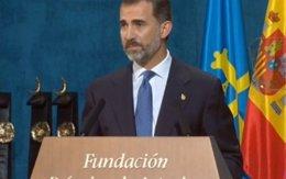 Foto: Felipe VI avisa de que ciudadanos e instituciones están sometidos por igual a la ley (RTVE)