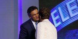 Foto: Rousseff sale reforzada del último debate a pesar de las últimas denuncias sobre Petrobras (REUTERS)