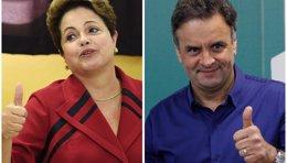 Foto: El último sondeo da una ligera ventaja a Neves sobre Rousseff (REUTERS)