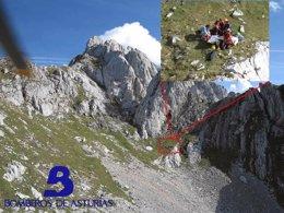 Foto: Herido un joven de 29 años tras sufrir una caída cuando estaba escalando en los Picos de Europa (SEPA)