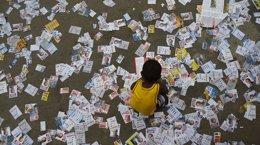Foto: Más de 142 millones de brasileños están llamados este domingo a las urnas (RICARDO MORAES / REUTERS)