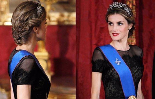 Foto: Doña Letizia, la reina de los recogidos (EUROPA PRESS)