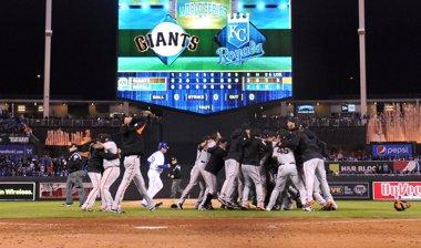 Foto: Los Giants ganan las Series Mundiales de beisbol (REUTERS)