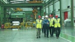 Foto: La planta de Iberfoil se encuentra a pleno rendimiento (DGA)