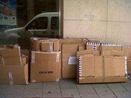 Foto: Piden investigar el papel del Gobierno ceutí  por el cartón reciclado (EUROPA PRESS)