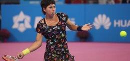 Foto: Carla Suárez, a semifinales del Torneo de Campeonas (PHOTOGRAPHER: ANTON STANKOV)