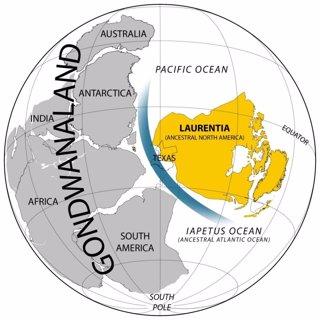 Cambio geográfico previo a la explosión Cámbrica
