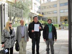 Representantes de las organizaciones tras presentar la denuncia en el Ministerio