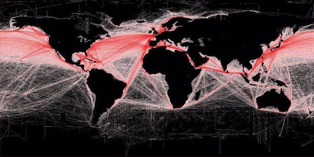 Rutas marítimas mundiales