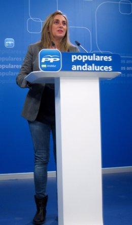 Marifrán Carazo en rueda de prensa en el PP-A