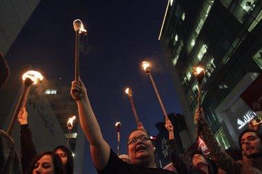 Foto: Al menos 31 detenidos en los disturbios tras la manifestación en México DF (REUTERS)
