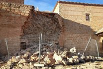 Se derrumba parte de la muralla del Castillo de Peñarroya en Argamasilla de Alba (Ciudad Real)