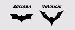 Foto: DC Comics (Batman) se enfrenta al Valencia por el murciélago de su escudo (VALENCIA/DC)