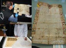 Foto: Troben 28 documents datats entre 1284 i 1779 (GUARDIA CIVIL)