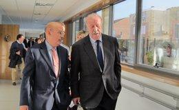 Foto: Del Bosque apoya en Salamanca la investigación sobre el Alzheimer (EUROPA PRESS)
