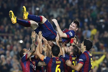 Foto: Messi, máximo goleador de la historia de la Liga (REUTERS)