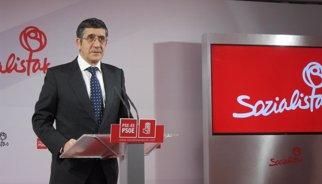 """9N.- Patxi López (PSOE) adverteix que """"la solució"""" a Catalunya no és """"encausar Mas"""""""