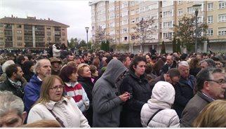 Milers de burgalesos mostren el seu suport als treballadors de Campofrío