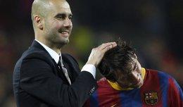 """Foto: Guardiola: """"Me gustaría que Messi acabara su carrera en el Barça"""" (REUTERS)"""