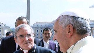 El papa dirigeix un missatge a la vintena de bisbes internacionals reunits a Barcelona