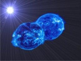 Foto: Observan dos estrellas que acabarán fusionándose en una sola y supermasiva (JAVIER LORENZO (UNIVERSIDAD DE ALICANTE))