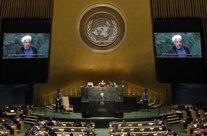 Hassan Rouhani en un discurso en las Naciones Unidas.