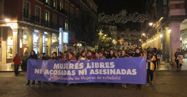Foto: Centenares de personas secundan la manifestación de la Coordinadora de Mujeres de Valladolid