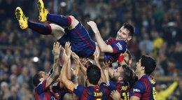 Foto: El insaciable Leo Messi ya es el máximo goleador de la 'Champions' (REUTERS)