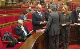 Foto: Mas compara la reacción de Sánchez-Camacho a su plan con el 'Váyase señor González' de Aznar (EUROPA PRESS)
