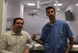 Foto: Un dispositiu guia en la cirurgia de les desviacions d'ossos llargs (CEU )