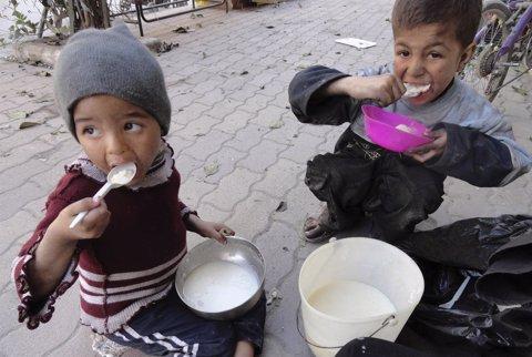 Niños en la guerra de Siria
