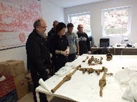 Esqueleto hhalado en Balaguer