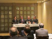 El presidente de la CEOE en un encuentro con empresarios aragoneses.