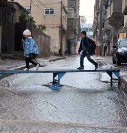 Foto: La UNRWA declara el estado de emergencia en la Franja de Gaza por las inundaciones (UNRWA)