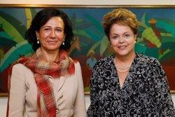 Ana Botín y  Dilma Roussef