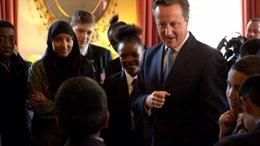 """Foto: Cameron defiende un sistema migratorio """"más estricto"""" que permita expulsar a """"mendigos"""" y """"estafadores"""" (ARRON HOARE/OFICINA DEL PRIMER MINISTRO BRITÁNICO)"""