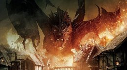 Foto: Smaug arrasa en El Hobbit: La Batalla de los Cinco Ejércitos (NEW LINE CINEMA)