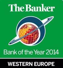 Santander recibe el premio al Banco del Año en Europa Occidental