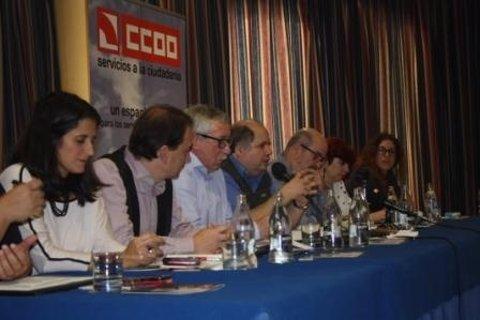Ignacio Fernández Toxo (CC.OO.) en Girona