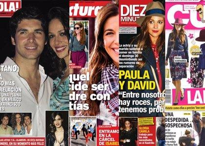 Foto: Eva y Cayetano de 'luna de miel', Raquel Sánchez Silva planes de mamá y ¿romance entre Blanca Suárez y Aitor Luna?