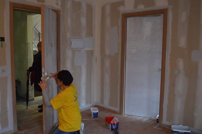 Unos 50 pintores pintan viviendas para 19 familias - Pintores de viviendas ...