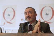 Arturo Pérez-Reverte en la presentación del Quijote