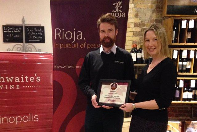 Foto: Un centenar de vinotecas del Reino Unido han competido por el premio 'Detallista Rioja' del año
