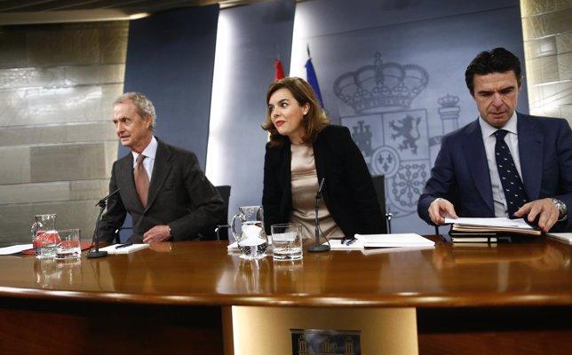 Pedro Morenés, Santamaría y José Manuel Soria